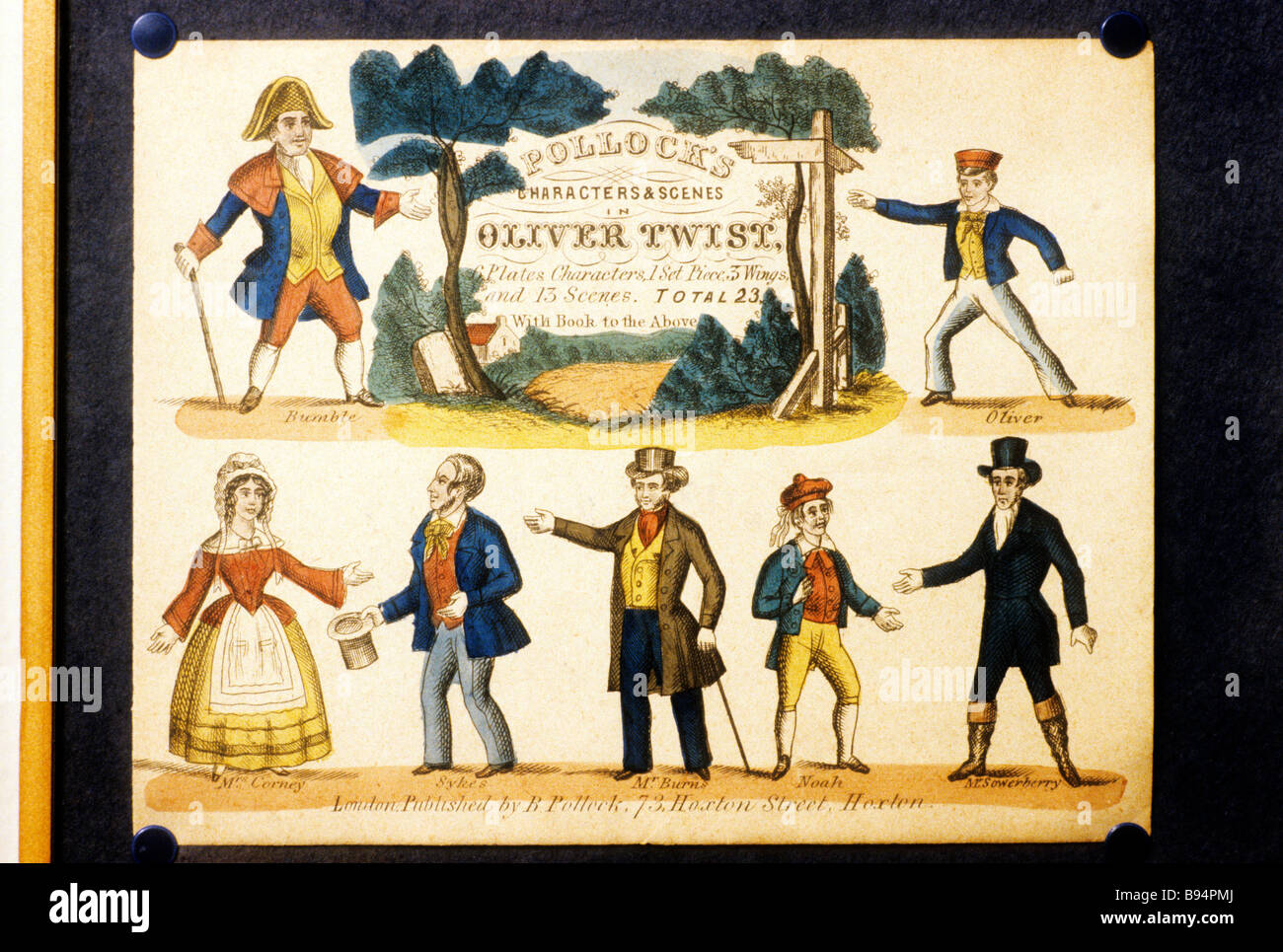 oliver twist stock photos oliver twist stock images alamy pollock s characters scenes from oliver twist by charles dickens english victorian novel novelist author sketch
