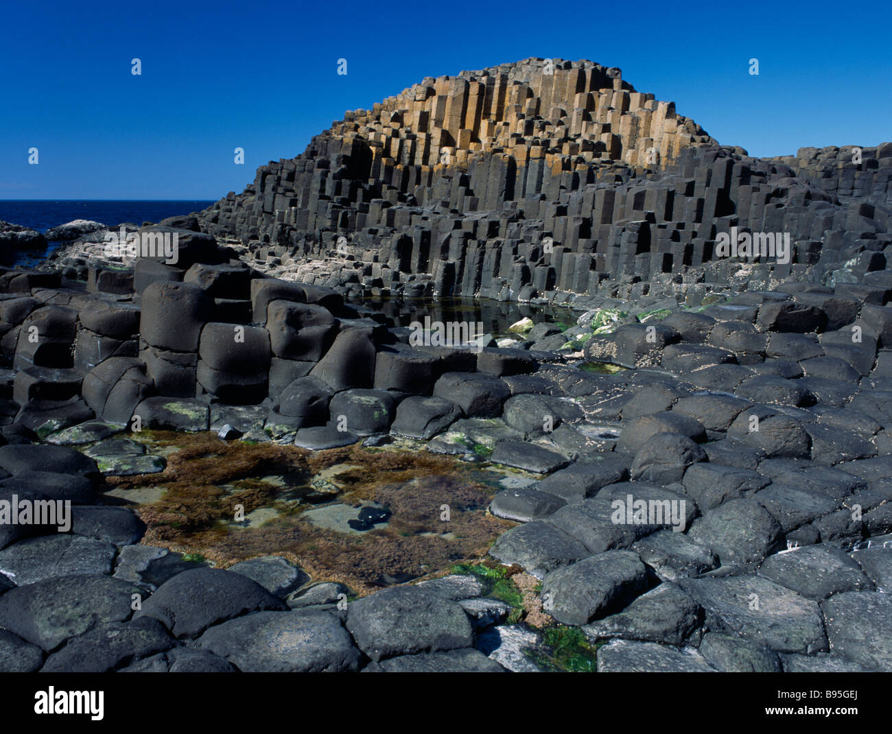 Antrim United Kingdom  city photos : Northern Ireland United Kingdom County Antrim Giant's Causeway Stock ...