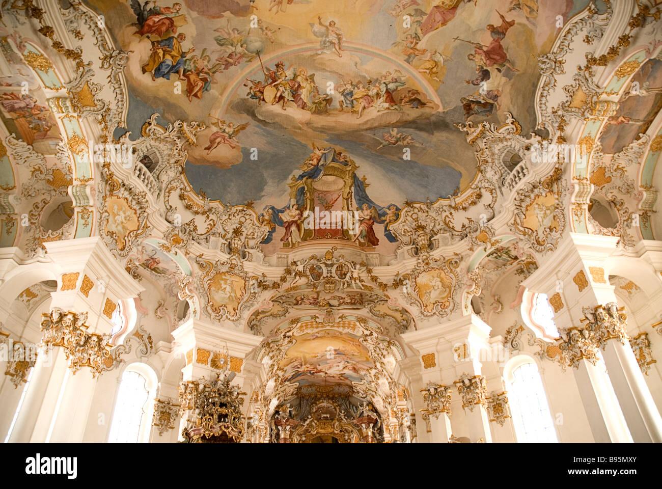 Germany Bavaria Steingaden Wieskirche Pilgrimage