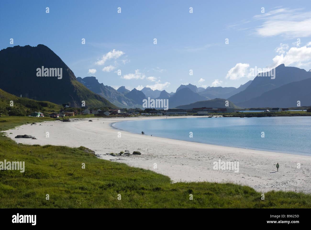 Sandy Beach In Ramberg Flakstad Flakstad 248 Ya Island