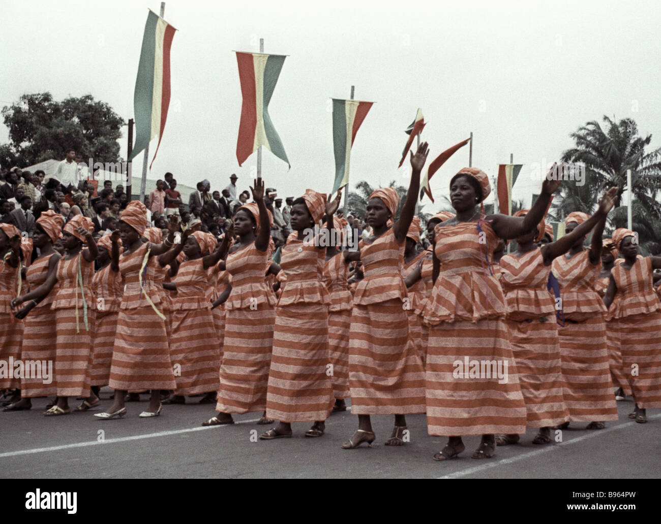 Brazzaville Residents Attending Parade In Honor Of Independence - Congo independence day