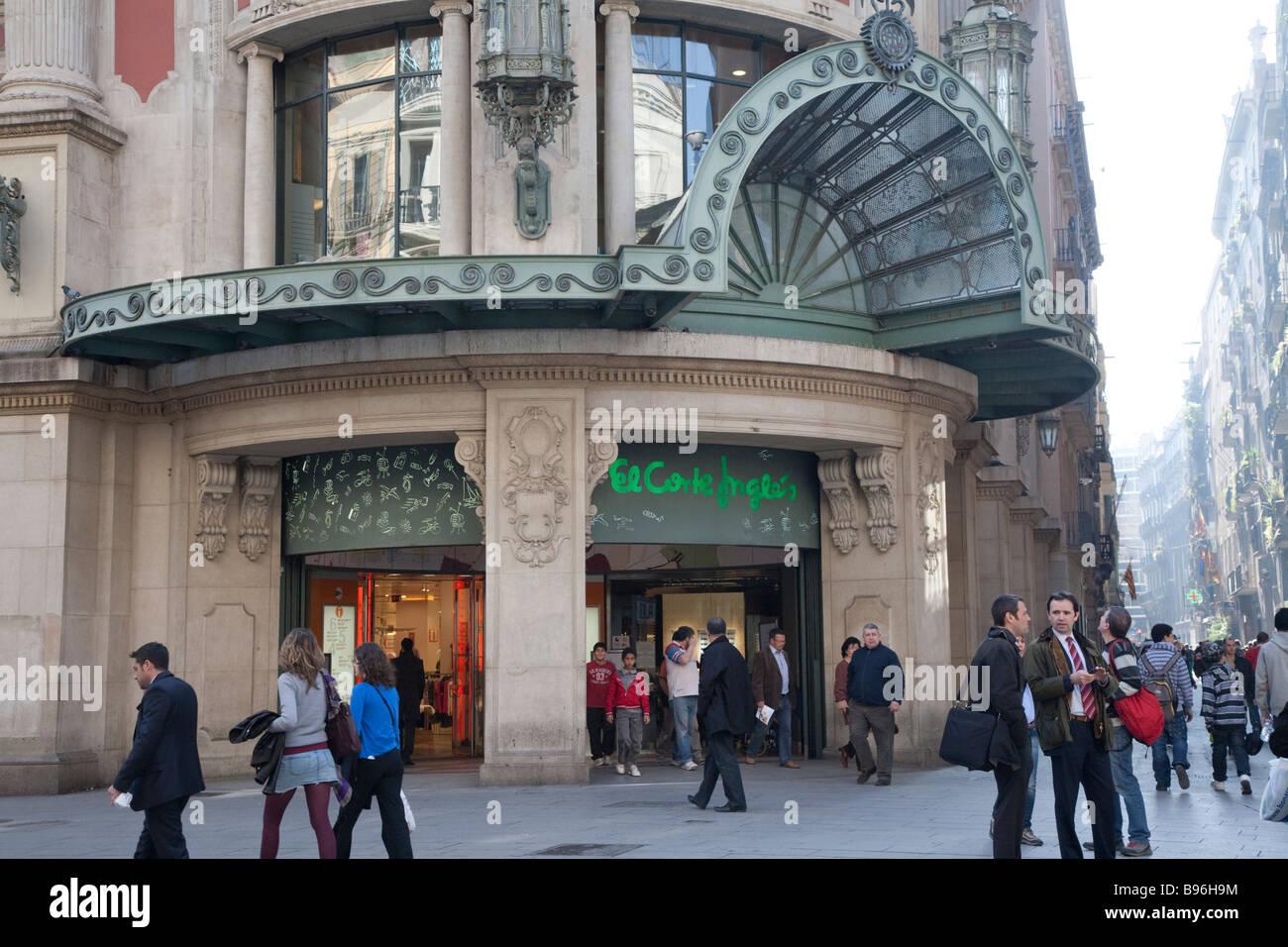 El corte ingles department store shopping barcelona stock photo royalty free image 22887584 - El corte ingles stores ...