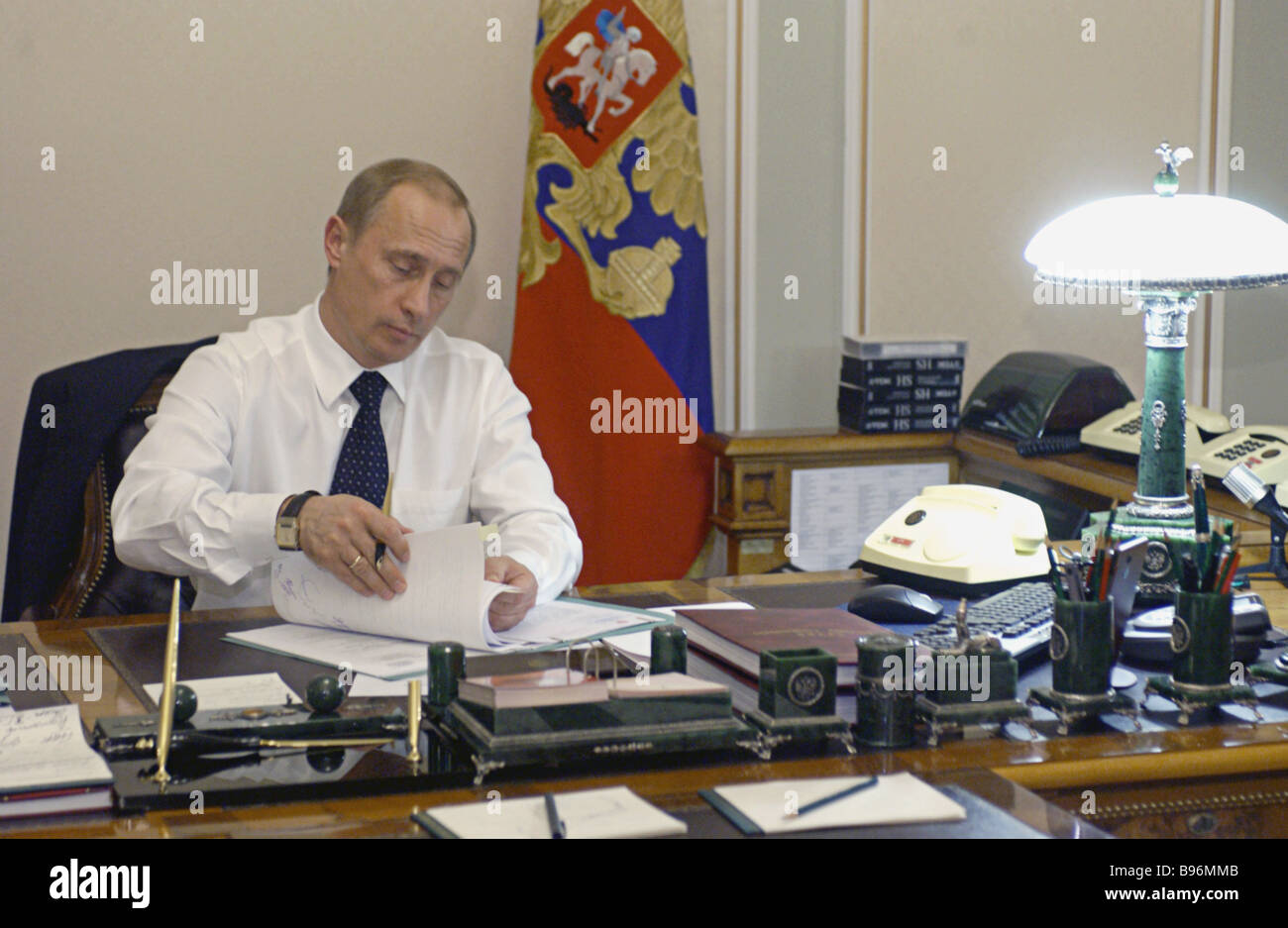 Russian president vladimir putin at his office in novo for Office photo
