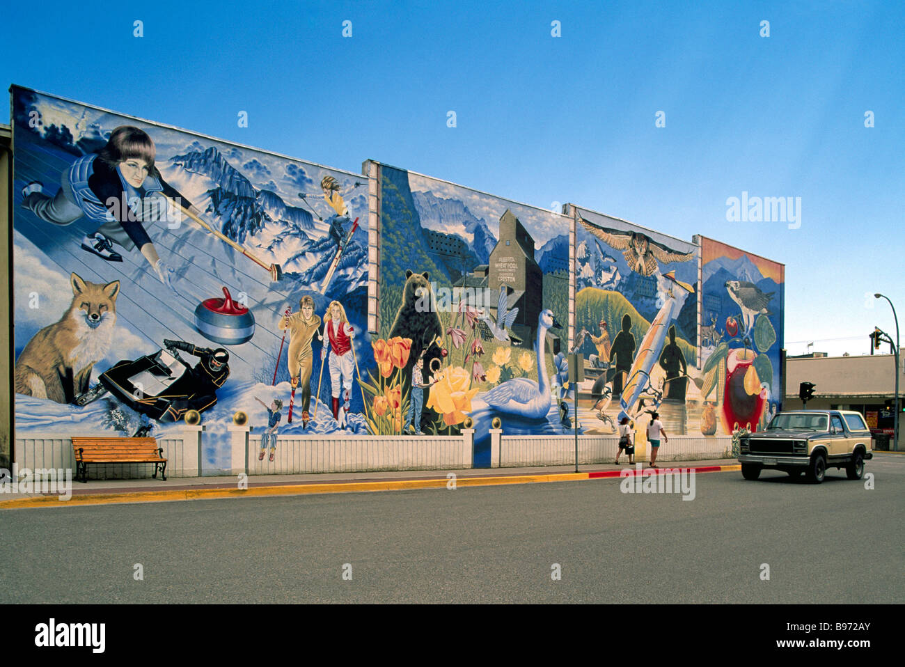 A wall mural in creston depicting the four seasons of the for 4 seasons mural