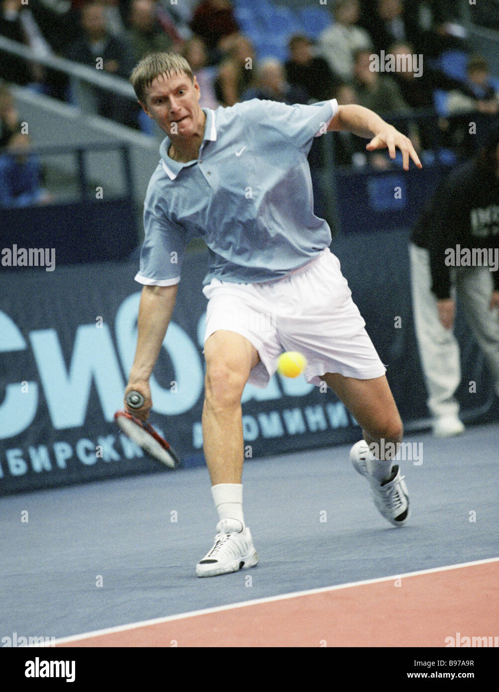 Russian tennis player Yevgeny Kafelnikov at the Kremlin Cup 2000