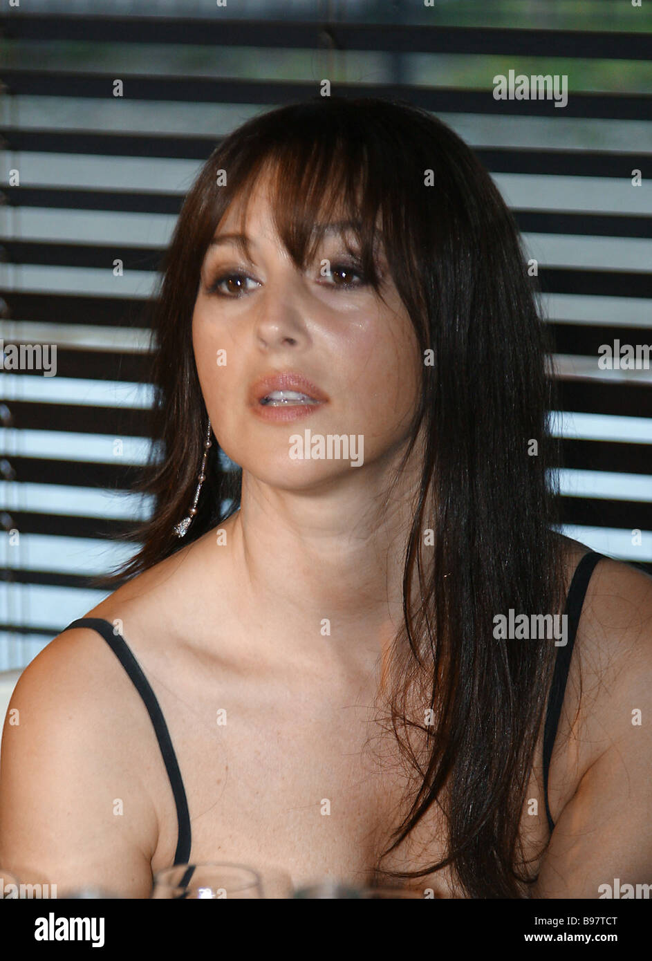Actress Monica Bellucci at the GQ Bar during a cocktail party for the Stock Photo, Royalty Free ...