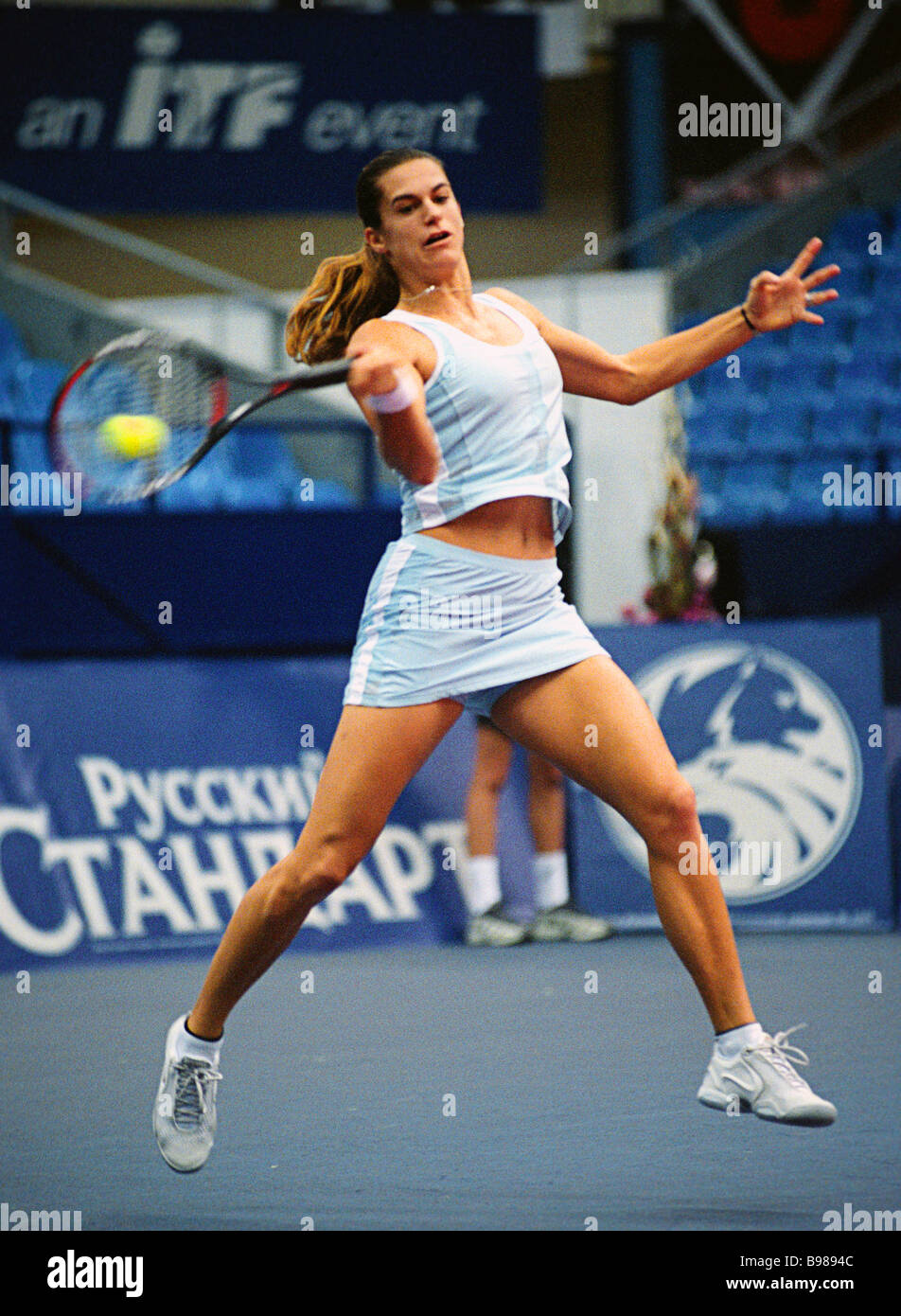 French tennis player Amelie Mauresmo won a match against American