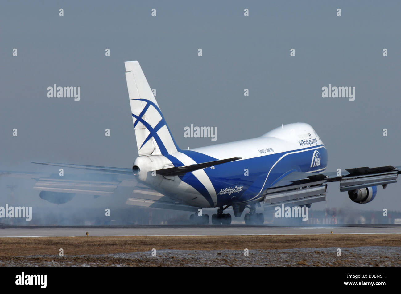 A Boeing 747 200 Airplane Belonging To The Volga Dneprpany An  Airbridgecargo Subsidiary  Stock