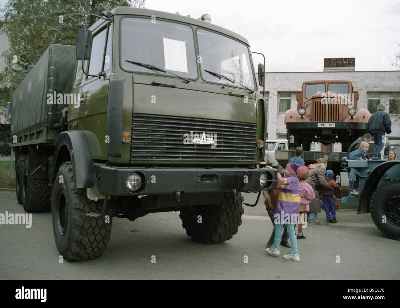 The maz 6317 all wheel drive drop side truck of the minsk for Troy motor mall gmc