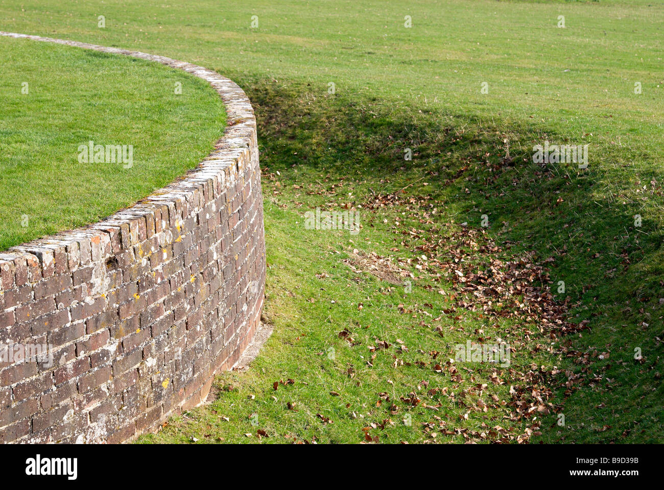 Keep Animals Out Of Garden Part - 50: Example Of A Ha Ha (or Haha), A Wall And Ditch Used To Keep Grazing Animals  Out Of A Formal Garden But Retaining Parkland Vista