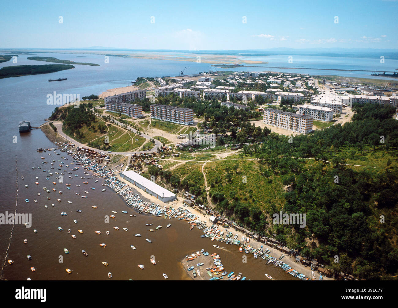 view of the amur river and amursk city stock photo all free download vector eps all free download vector graphics