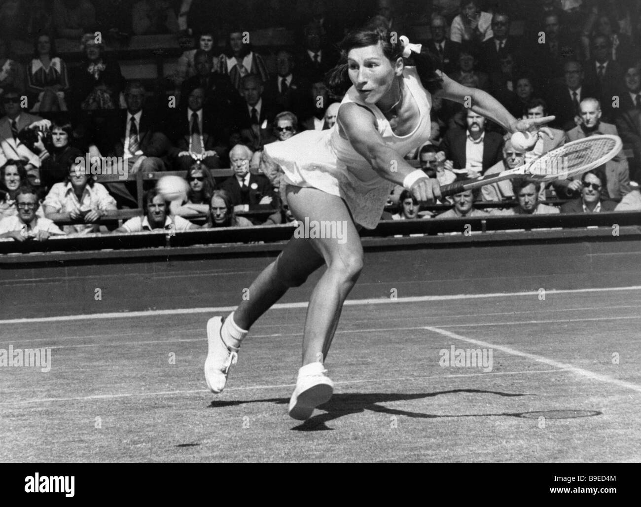 Soviet tennis player Olga Morozova at Wimbledon tournament Stock