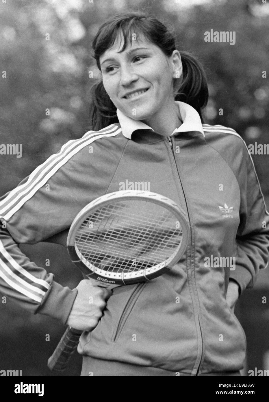 Soviet tennis player Olga Morozova Stock Royalty Free Image