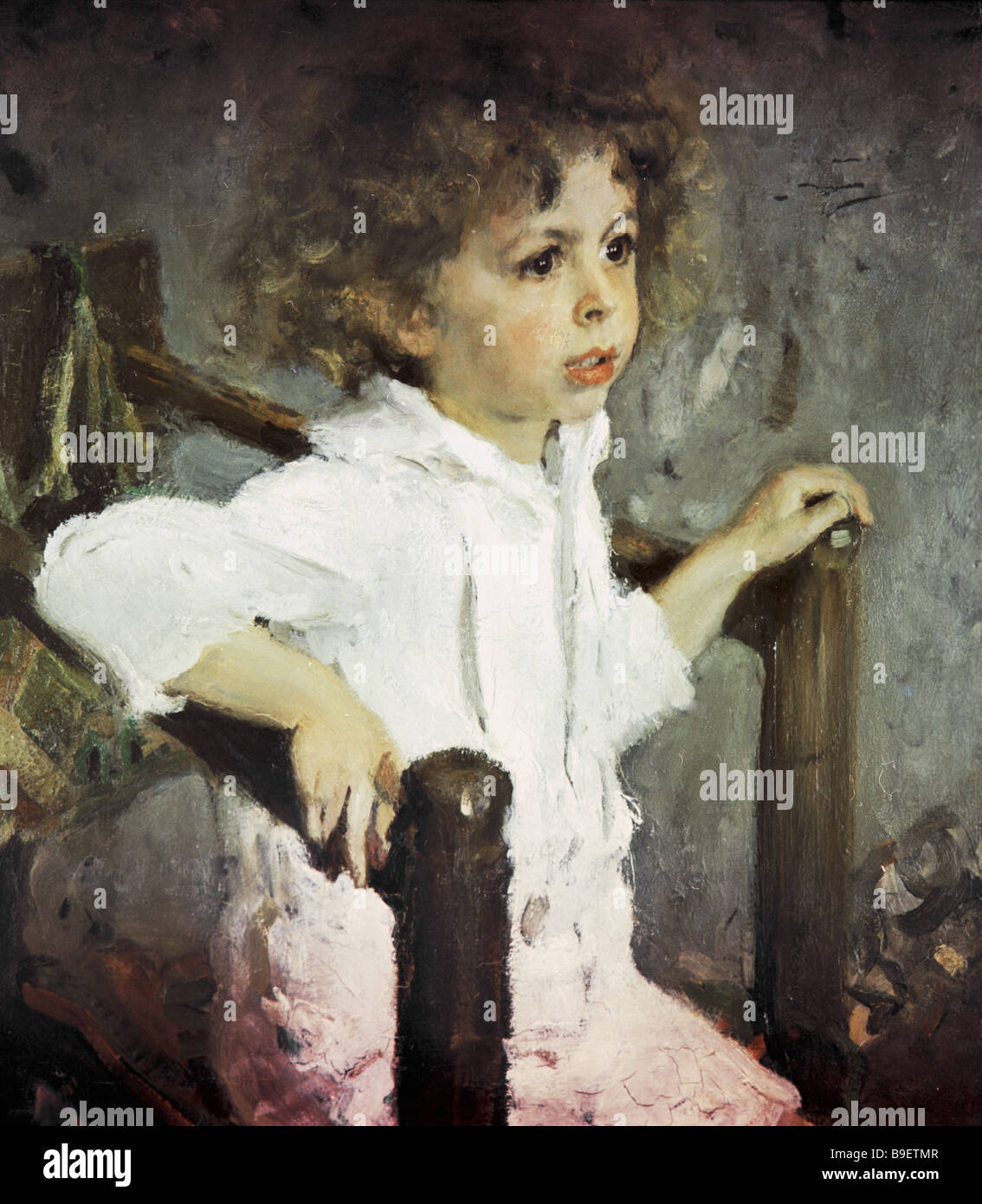 A Reproduction Of Valentin Serov S Painting Mika Morozov 1901 From The  Collection Of The State Tretyakov Gallery In Moscow