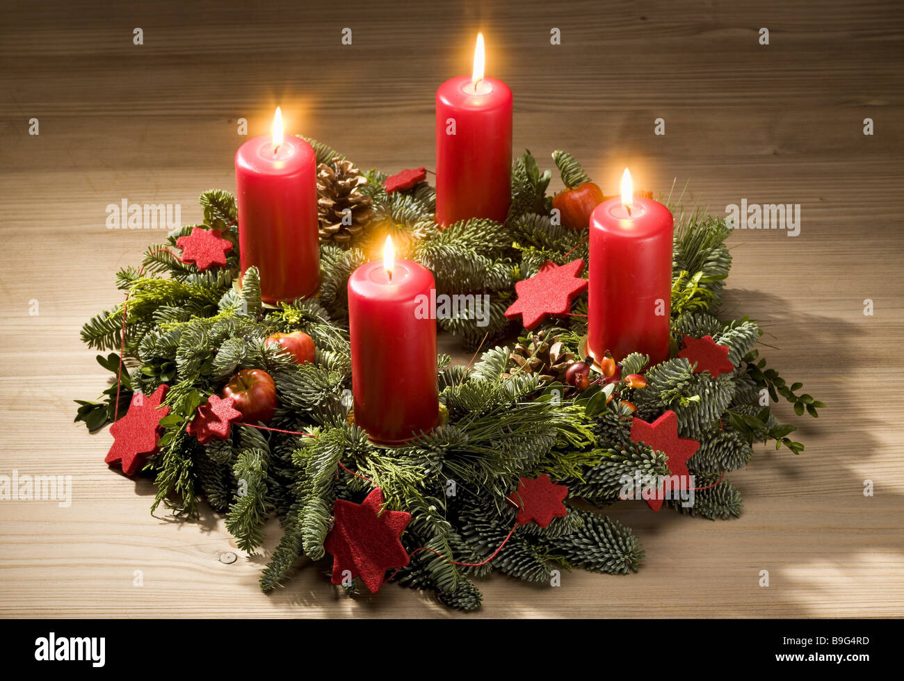 Christmas table advent wreath candles advent time burn for Advent candle decoration
