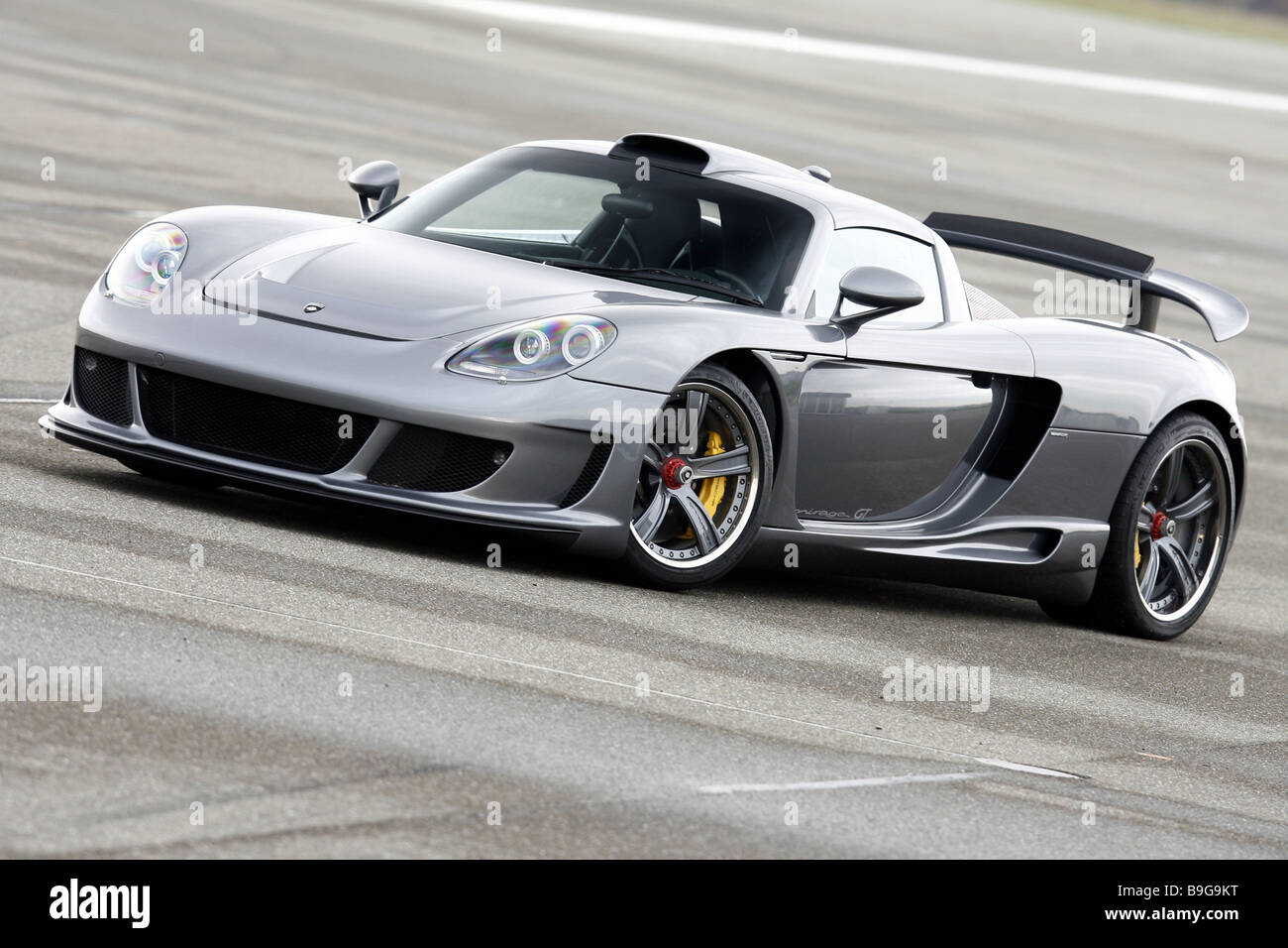 Porsche Gemballa Mirage Silver Series Vehicle Car Sport Cars Stock