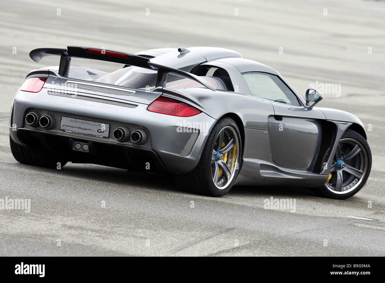 Porsche Gemballa Mirage Silver Backview Series Vehicle Car Sport