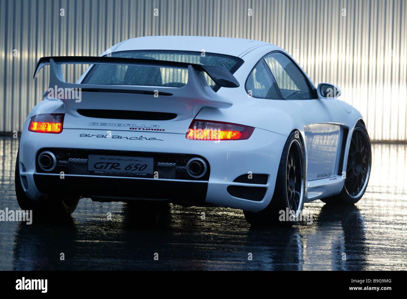 Porsche Gemballa Knows Backview Rain Twilight Series Vehicle Car