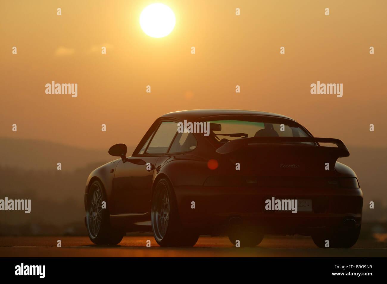 Porsche Gemballa Red Backview Sunset Series Vehicle Car