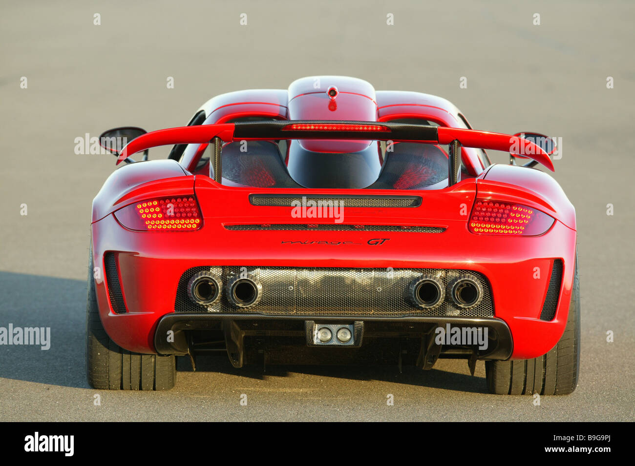 Porsche Gemballa Mirage Red Backview Series Vehicle Car Sport Cars