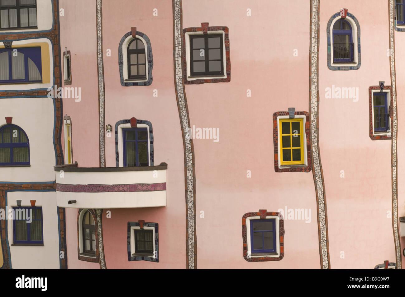 Austria Styria Bad Blumau Rogner Bad Design Hotel Facade Detail  Hundertwasser Stil No