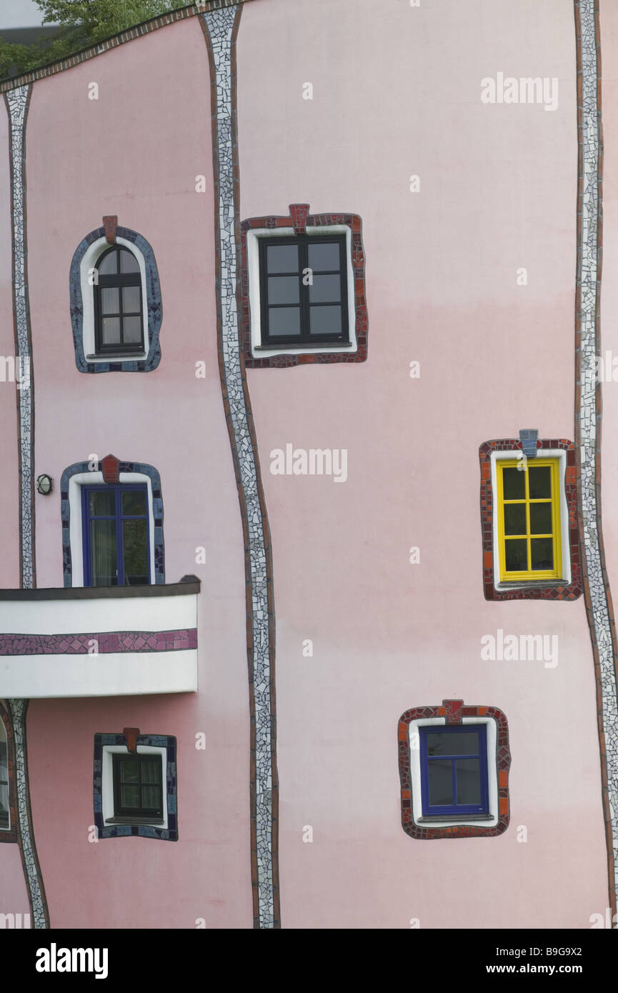 Austria Styria Bad Blumau Rogner-Bad Design-Hotel Facade Detail