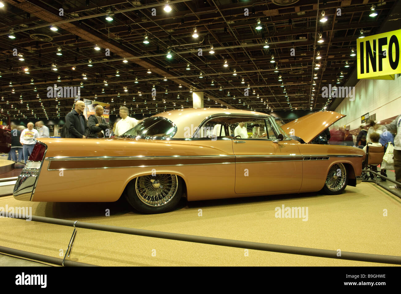 1956 Chrysler 300 hot rod at the 2009 Detroit Autorama Stock Photo