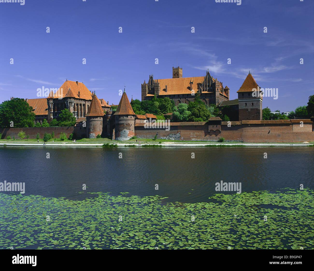 poland masuria marie-castle city view malbork city high-palace
