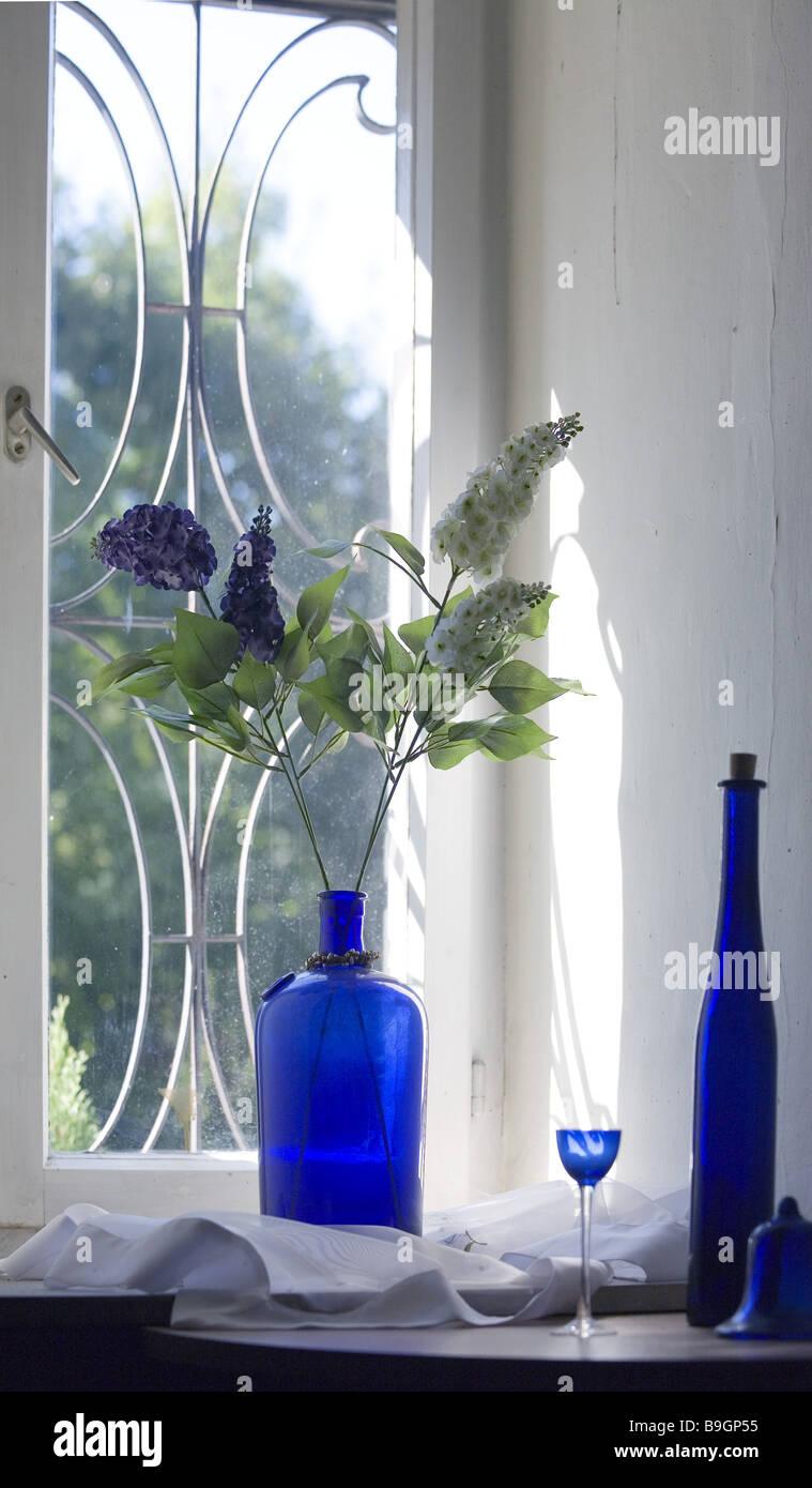 Still life windows flower vase bottle glass blue stock photo still life windows flower vase bottle glass blue reviewsmspy