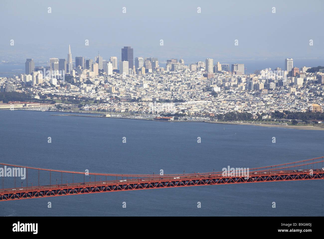 usa California San Francisco golden Gate bridge skyline America ...