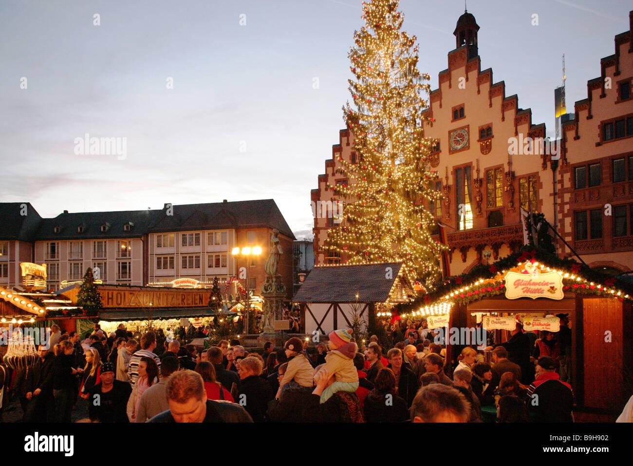 Germany Hesse Frankfurt on the Main Romans Christmas-market ...