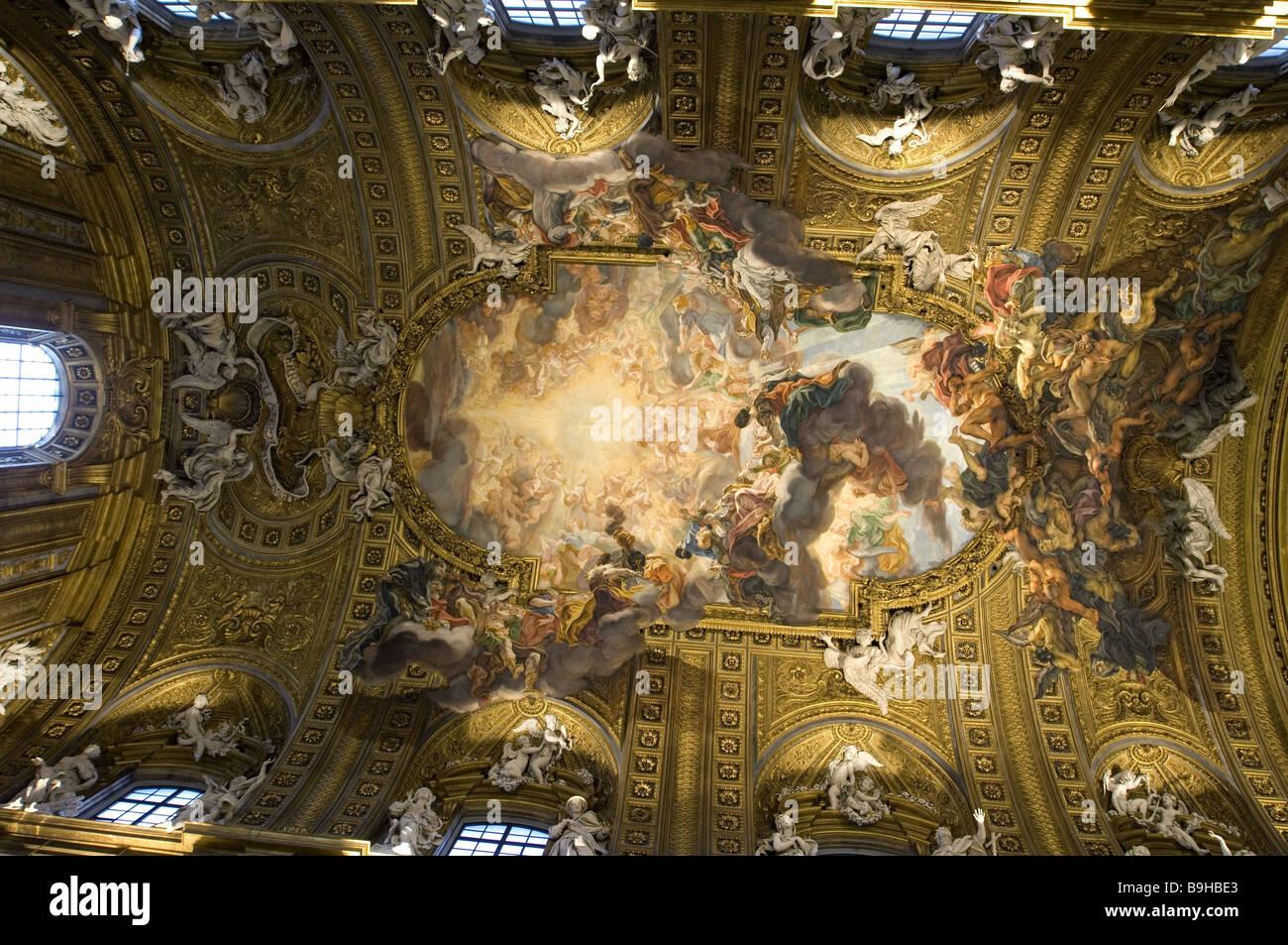 rome italy baroque interior of the church of santa maria della