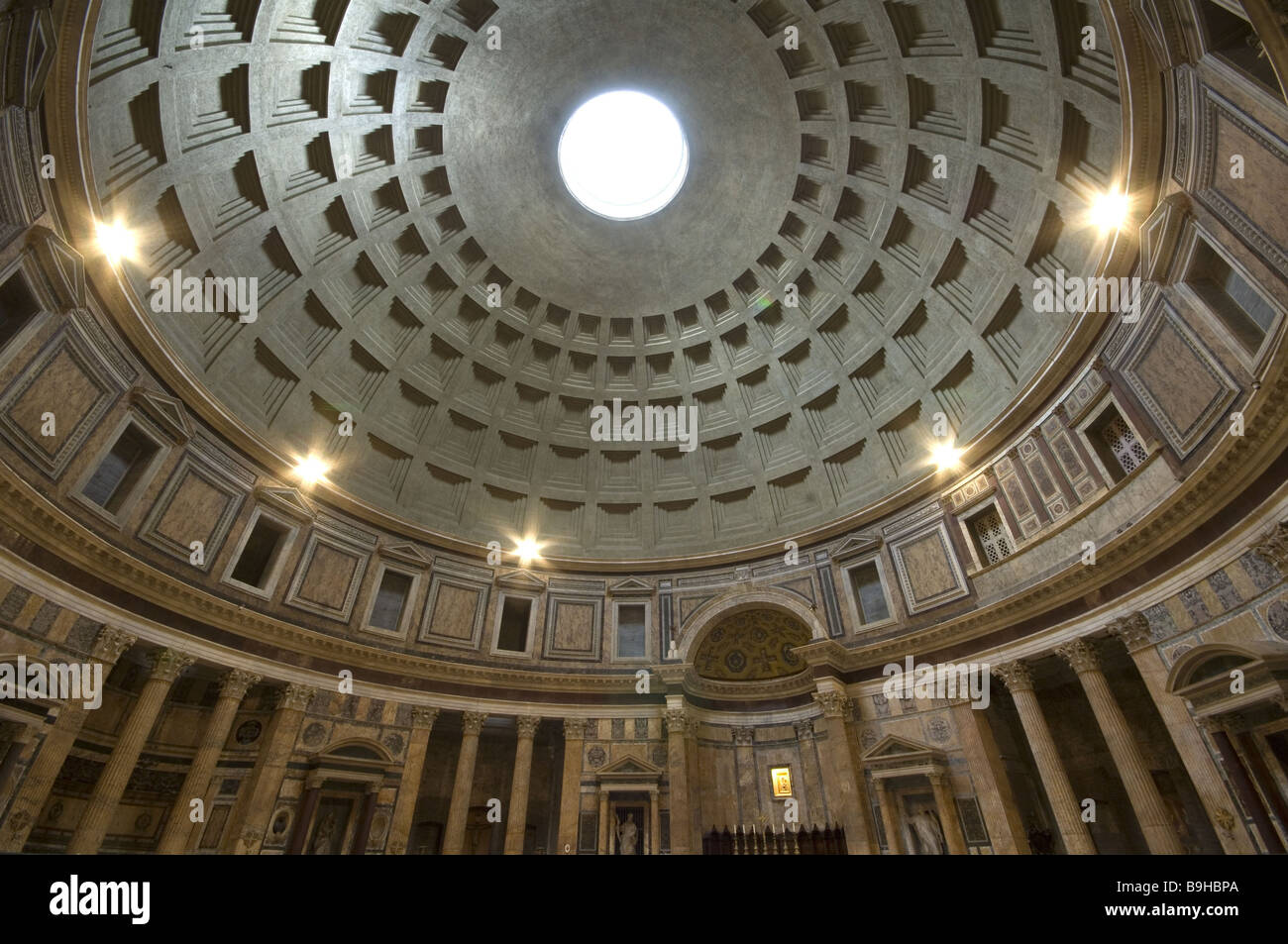 Roman Architecture Domes italy rome pantheon interior view dome architecture construction