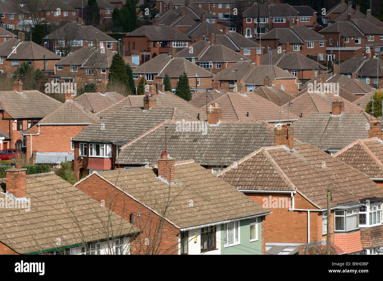 A view of suburban houses and rooftops in the West Midlands England UK. & A view of suburban houses and rooftops in the West Midlands ... memphite.com