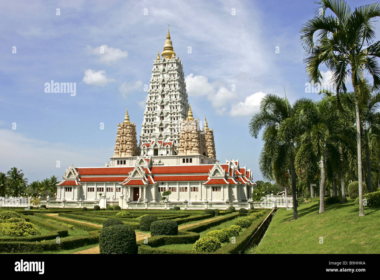 Thailand Wat Yansangwararam Temple Installation Detail Asian Asia Reception 2006 Outside Architecture Construction Buddhism