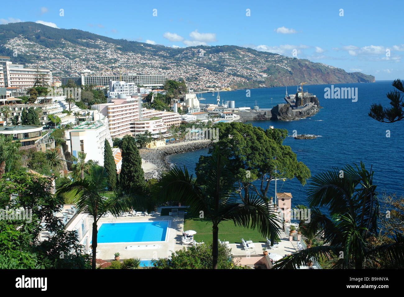 portugal island madeira funchal reid 39 s palace hotel stock photo royalty free image 23132686. Black Bedroom Furniture Sets. Home Design Ideas