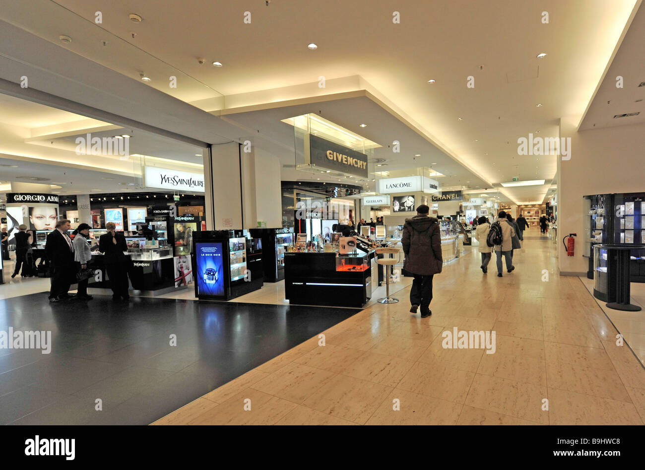 view into the perfume floor of berlin 39 s kadewe department store stock photo royalty free image. Black Bedroom Furniture Sets. Home Design Ideas