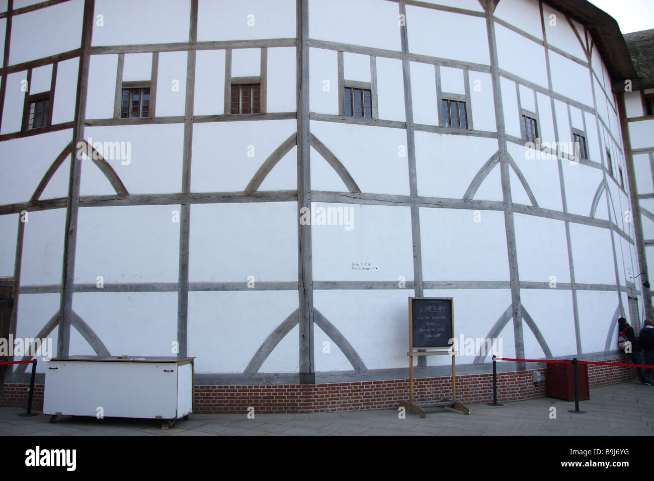 Tudor Windows london england uk new shakespeare globe theatre mock tudor windows