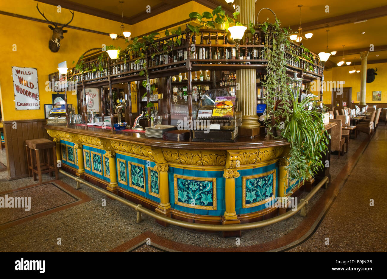 Victorian Tiled Bar And Dining Room In The Walerloo Hotel