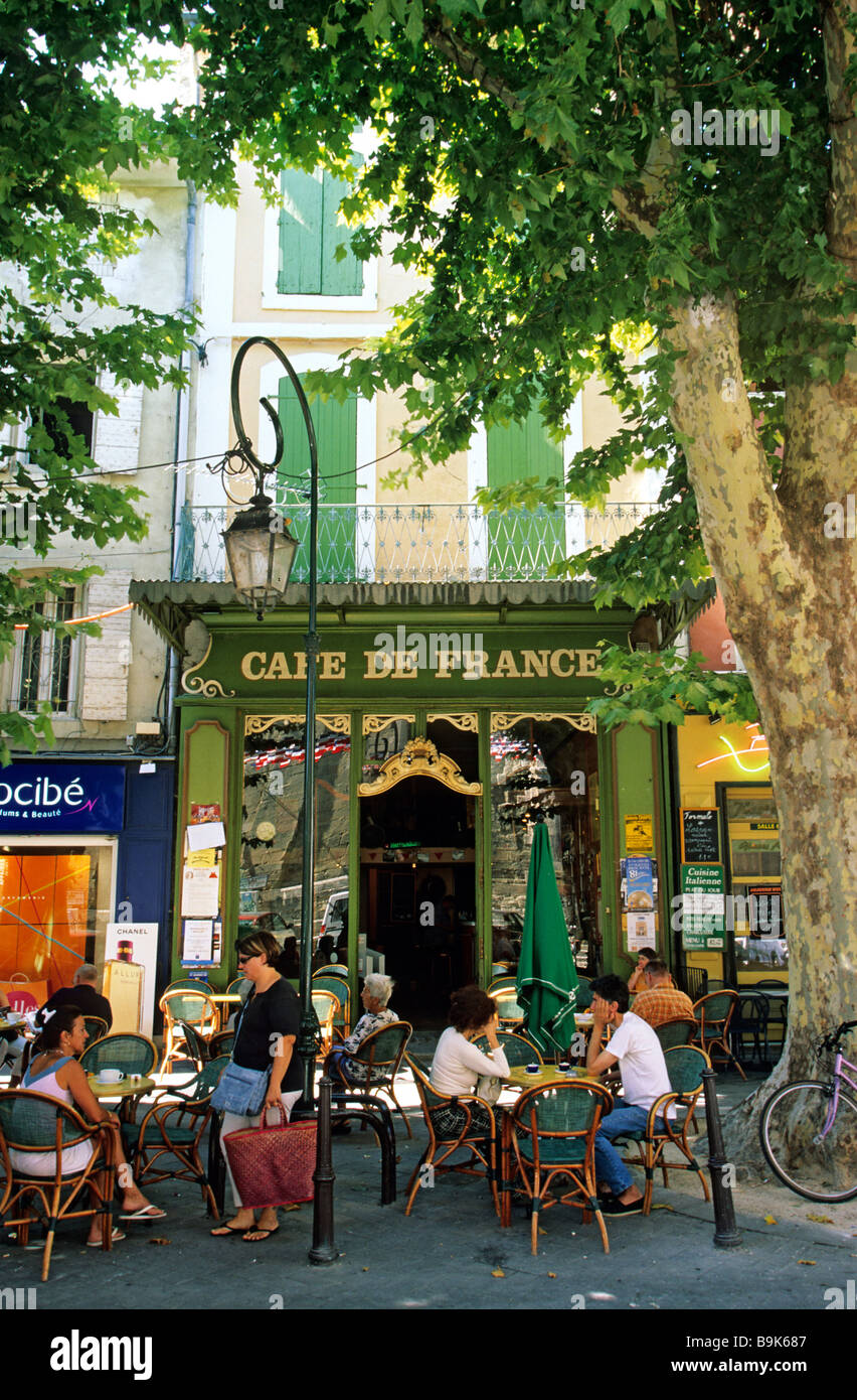 France, Vaucluse, L' Isle Sur La Sorgue, Cafe De France