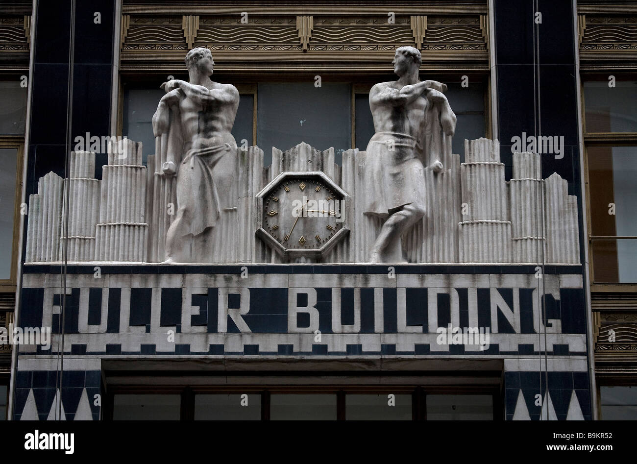 united states, new york city, manhattan, fuller building with art