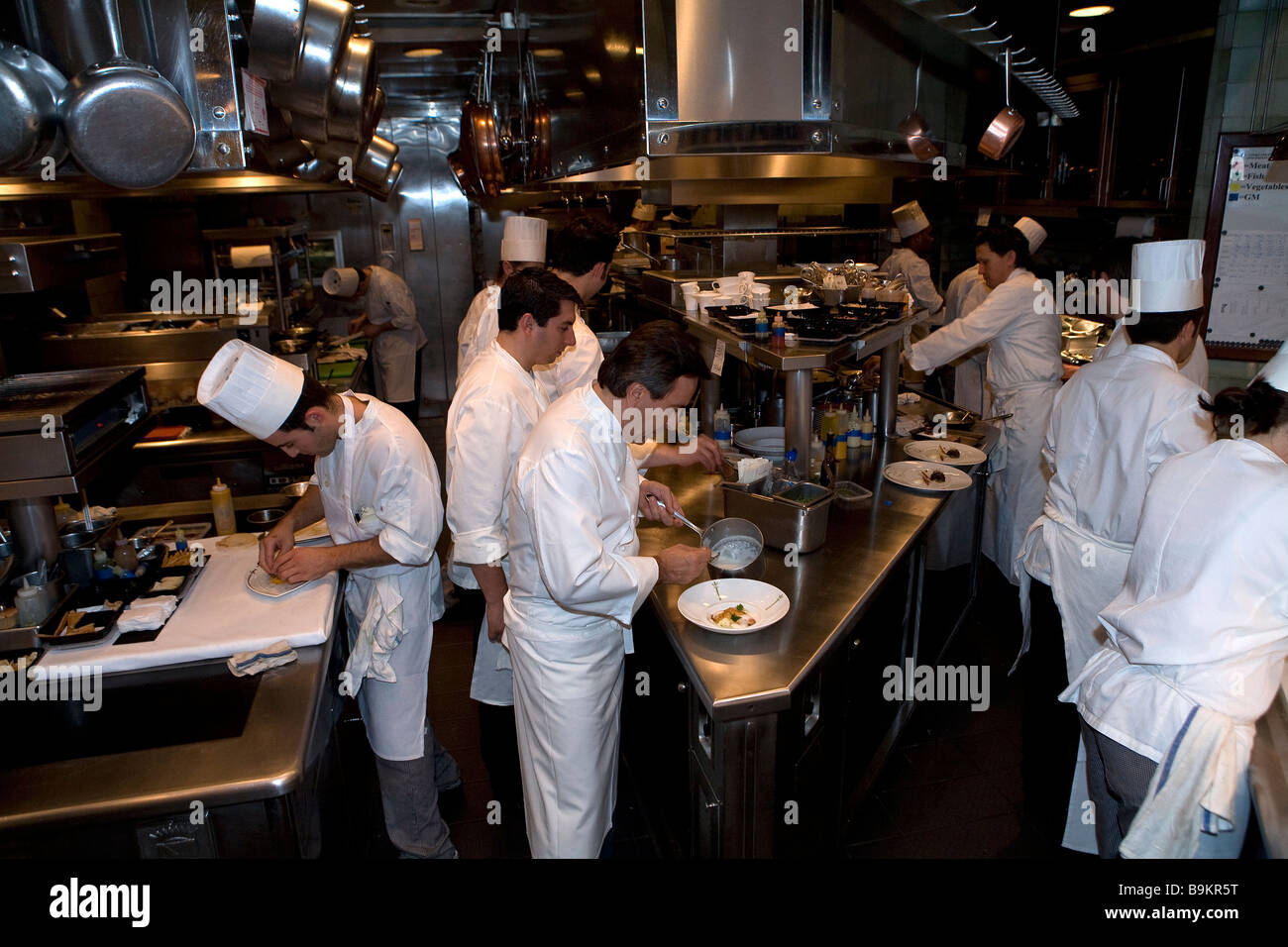 United States, New York City, Manhattan, Most Admired In Town, Restaurant U0027 Danielu0027 Owned By French Chef Daniel Boulud, Kitchen