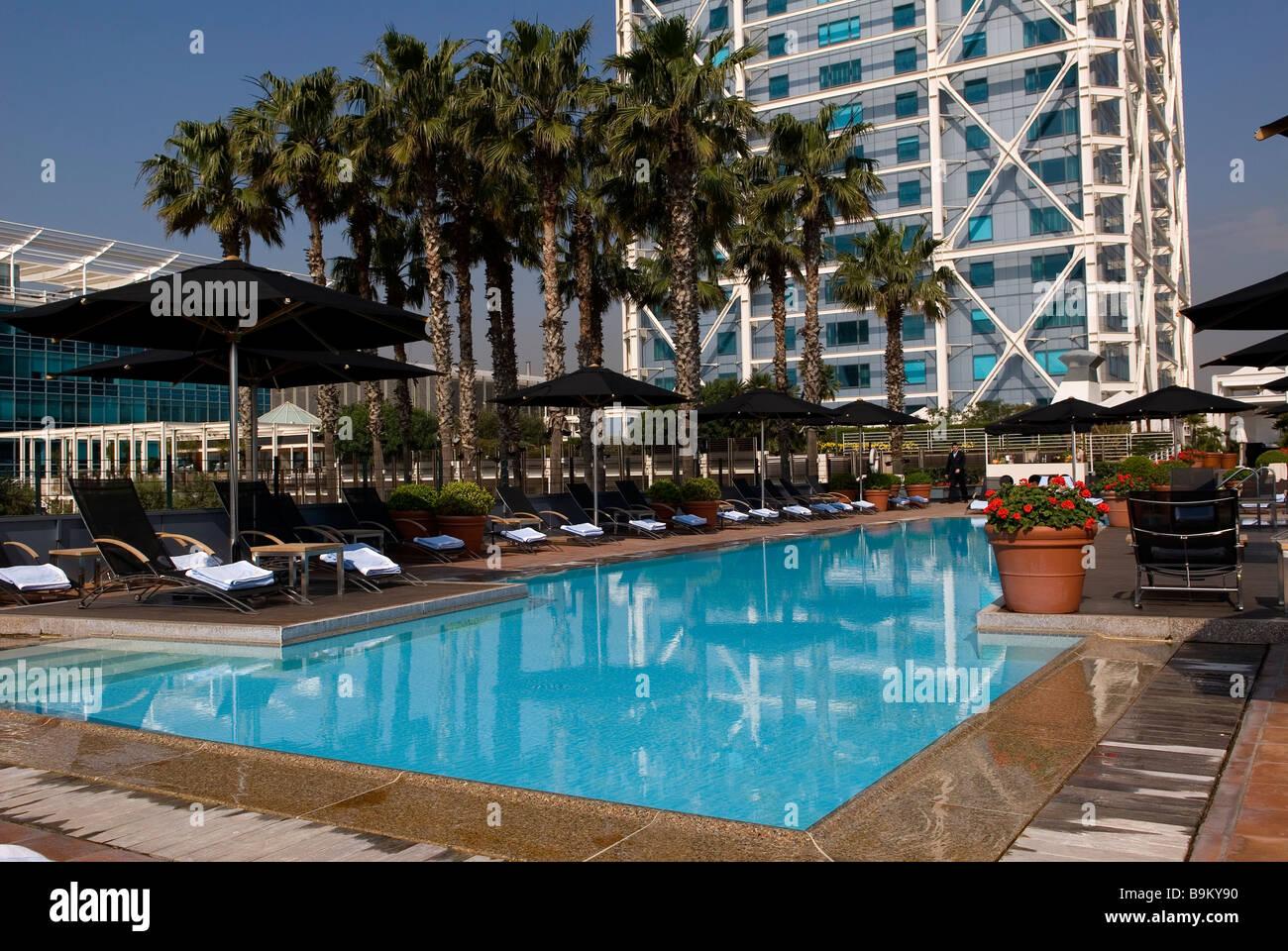 Spain Catalonia Barcelona Hotel Arts 39 S Swimming Pool Near The Stock Photo Royalty Free