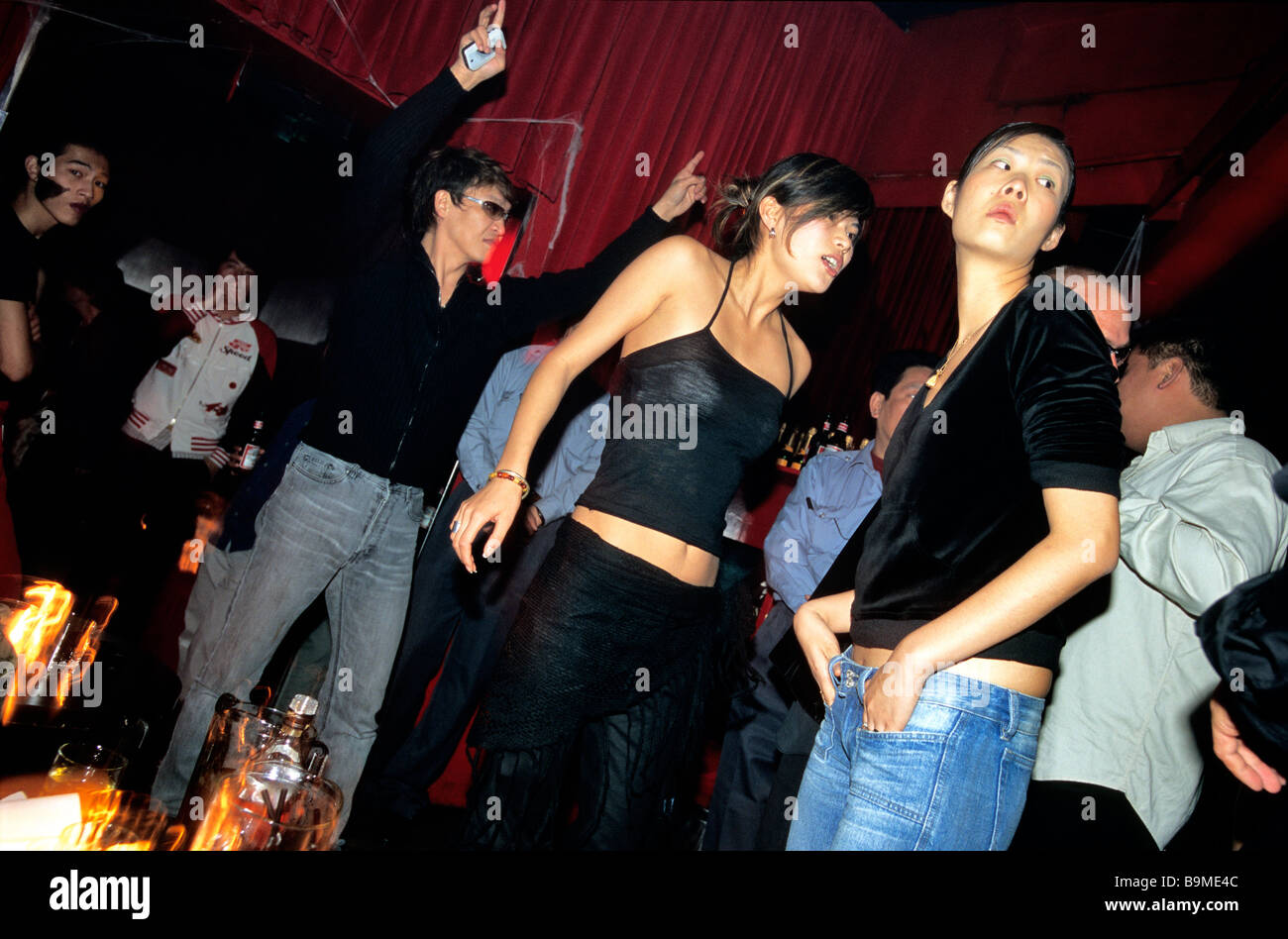 China, Shanghai, Park 97 lounge and bar, Halloween party Stock ...