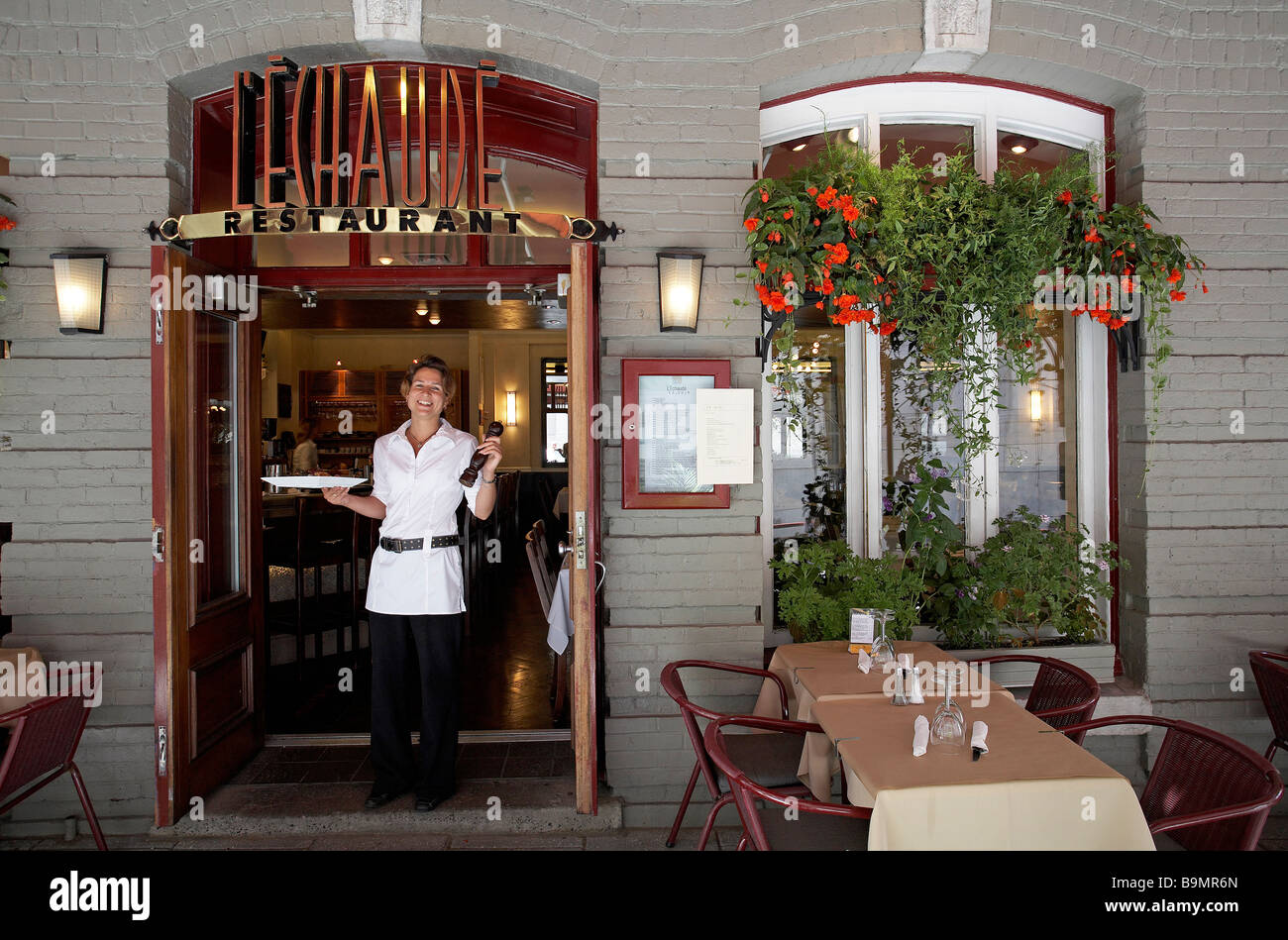 Canada quebec province quebec city vieux port district stock photo royalty free image - Restaurant vieux port de quebec ...