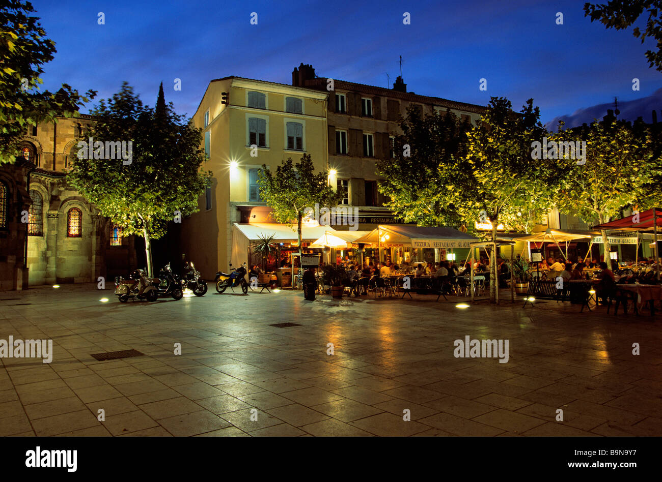 france drome valence place des clercs stock photo royalty free image 23211083 alamy. Black Bedroom Furniture Sets. Home Design Ideas
