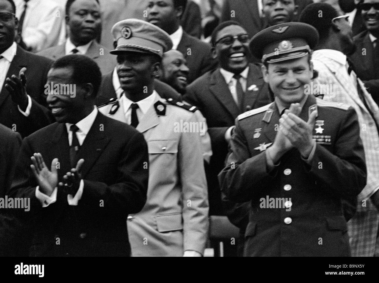 Massamba Deba Left Congo President And Soviet Cosmonaut German - Congo independence day