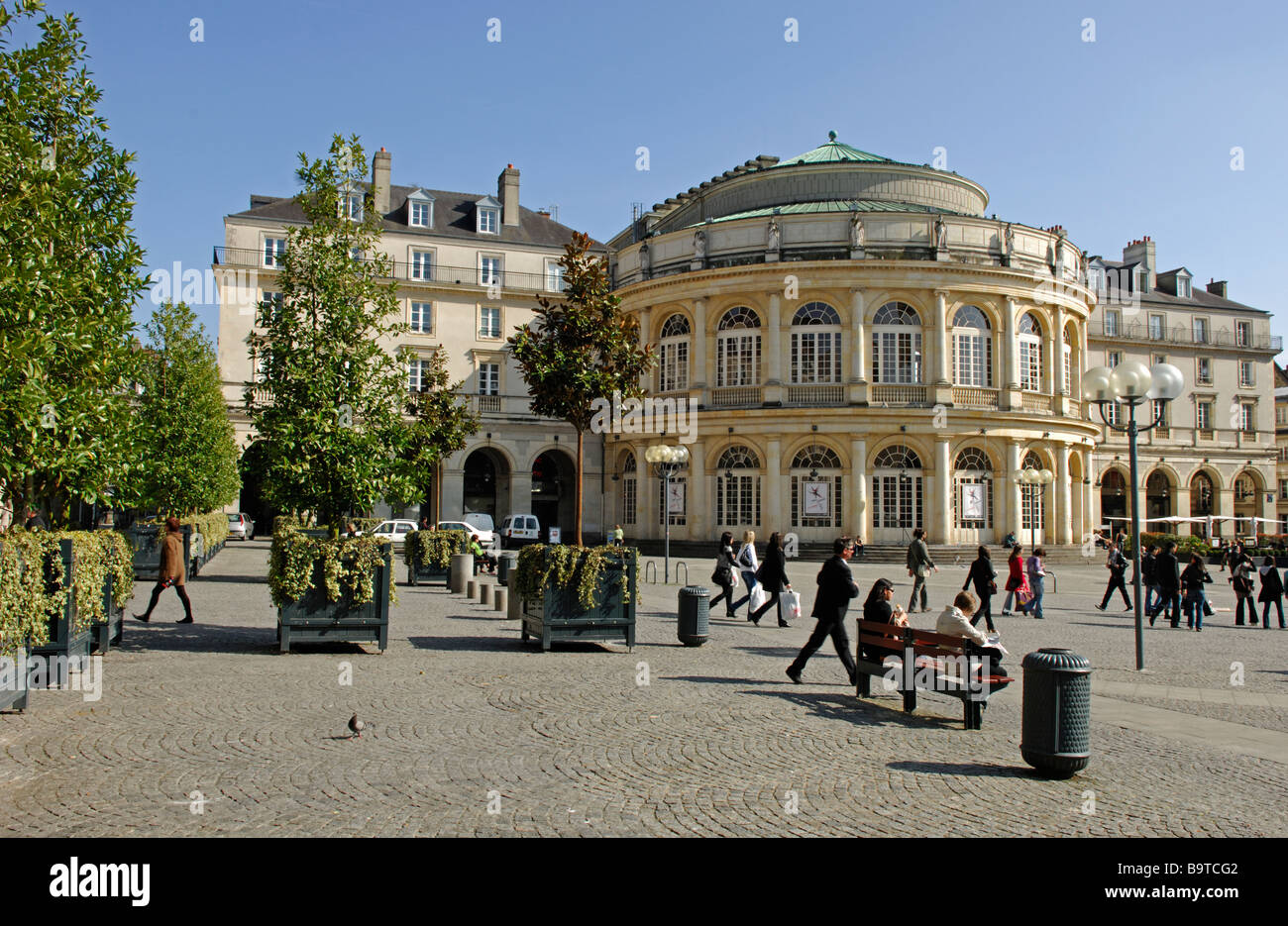 opera de rennes in the place de la mairie rennes in the ille et stock photo royalty free image. Black Bedroom Furniture Sets. Home Design Ideas