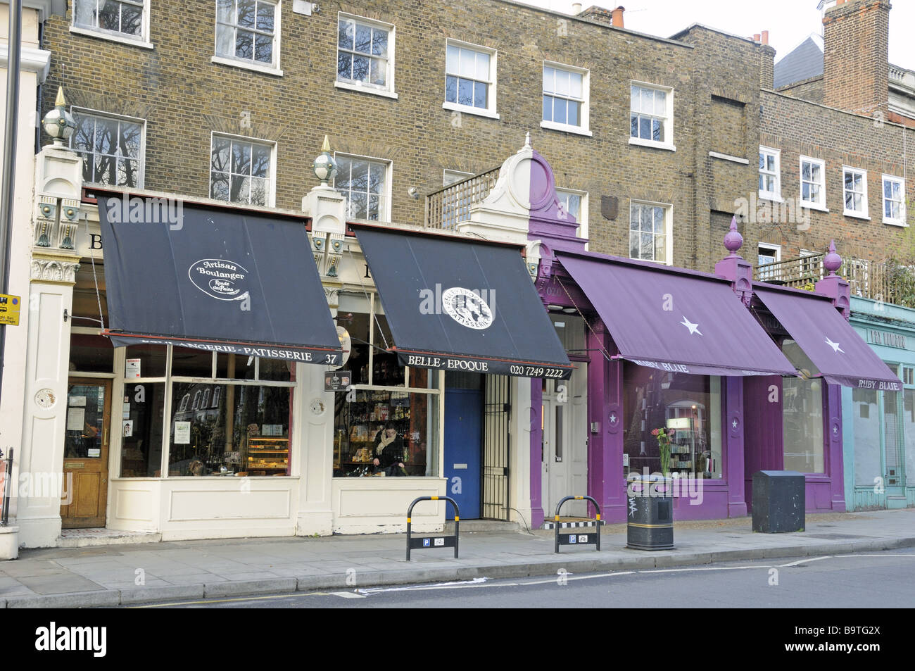 Cafe Awnings Newington Green London England UK