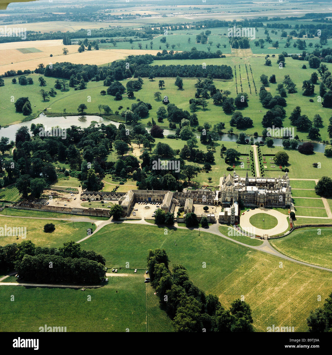 Aerial view of burghley house near stamford lincs for See images of my house